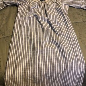 Blue and White American Eagle Outfitters Blouse
